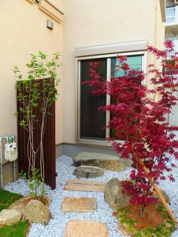 坪庭 和風植栽