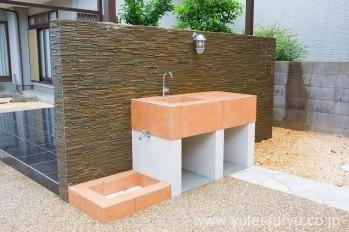 メンテナンスフリーの庭 立水栓