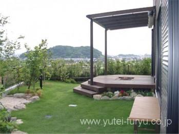 眺めの良い庭