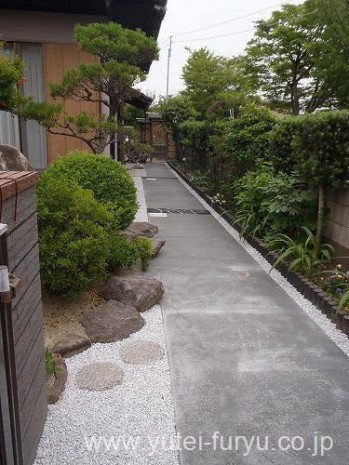 アプローチ工事 コンクリート舗装