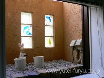 浴室の目隠し壁