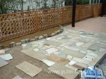 自然石の舗装