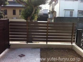 木樹脂フェンス