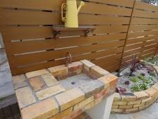 おしゃれな庭 立水栓
