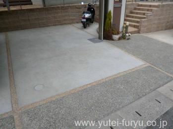車庫目地舗装