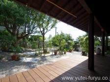 雑木林のある和風の庭