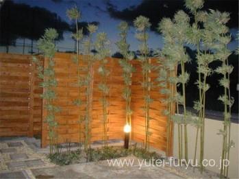 竹と目隠し