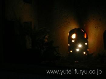 陶器のランプシェード